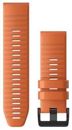 cumpără Accesoriu pentru aparat mobil Garmin QuickFit fenix 6X 26mm Ember Orange Silicone Band în Chișinău