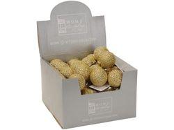 Set globuri pentru brad 2X55mm, auriu