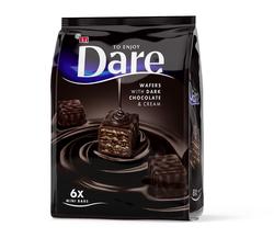 Mini batoane de ciocolată amăruie cu napolitană crocantă Eti Dare Dark Wafers Mini, 112 gr.