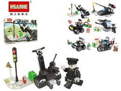 Конструктор HSANHE mini police 13.7X9.3X4.4cm, 6 видов