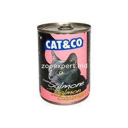 Cat & Co кусочки лосося в соусе 405 gr