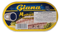 Macrou file in ulei vegetal Giana 170 gr
