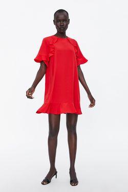 Платье ZARA Красный 7665/829/600