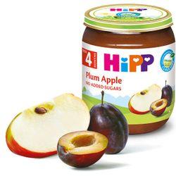 Piure de mere și prune Hipp (4+ luni), 125g