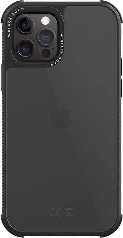 cumpără Husă pentru smartphone Hama iPhone 12/12 Pro Black Rock 192165 Robust Transparent black în Chișinău