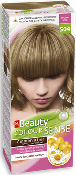 Краска для волос,SOLVEX MM Beauty Sense, 125 мл., S04 - Средне-русый