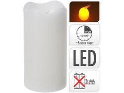 Свеча LED 13X7cm, таймер, белая