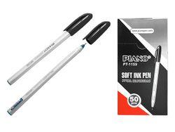 Ручка шариковая PT-1159 soft ink,1mm, черная