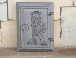 Дверца чугунная глухая инспекционная правая со вставкой DPK4