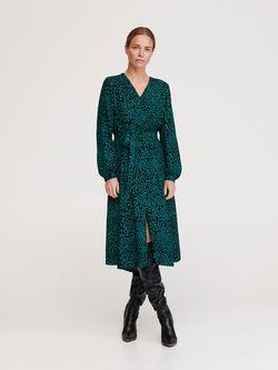 Платье RESERVED Черный/зеленый yj810-mlc