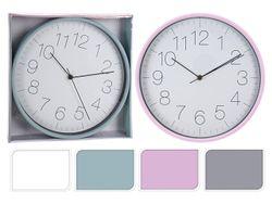 Часы настенные круглые 30сm, H4.2cm, 4 цвета