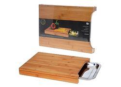 Доска разделочная деревянная EH 35X24cm+встроенный поднос
