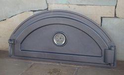 Дверца чугунная глухая правая с термометром PIZZA 7Т