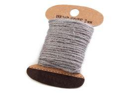Jute string grey, Ø2 mm