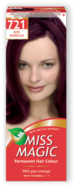 Краска для волос,SOLVEX Miss Magic, 90 мл., 721 - Слепая вишня