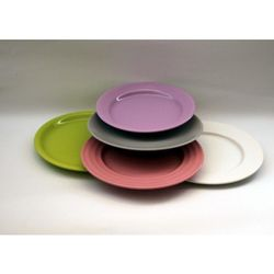 Тарелка десертная керамическая 20 см, разные цвета