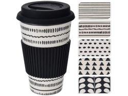 Чашка  с силиконовой крышкой D8.5, H13cm бамбук