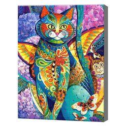 Волшебный кот, 30x40 см, aлмазная мозаика