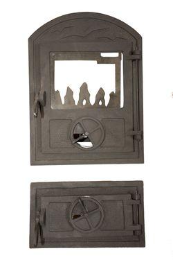 Дверца стальная со стеклом Weekend - Laura