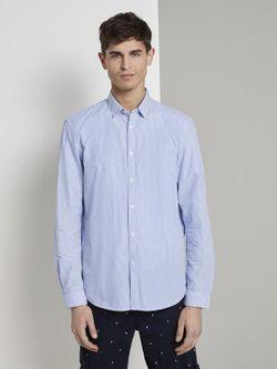 Рубашка TOM TAILOR Синий в полоску