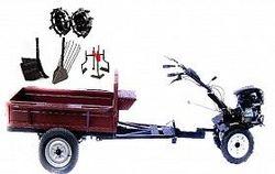 Set motocultivator TECHNOWORKER HB 700RS PRO+Remorca RK500 + plug reglabil + plug cartofi + roti metalice 4*8 + prasitoare