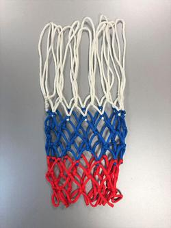 Plasa baschet 16111004, Hand Made, 4 mm PA 0.55 m red/blue/white (3905)