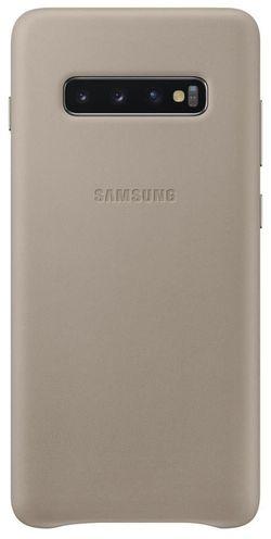 cumpără Husă pentru smartphone Samsung EF-VG975 Leather Cover S10+ Gray în Chișinău