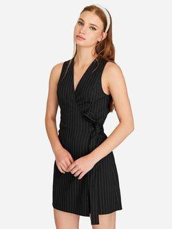 Платье Stradivarius Черный в полоску 6354/491/001