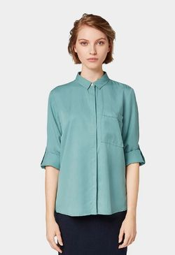 Блуза Tom Tailor Бирюзовый tom tailor 1013610