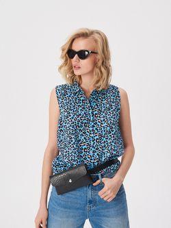 Блуза Sinsay Голубой с принтом uz545-43x