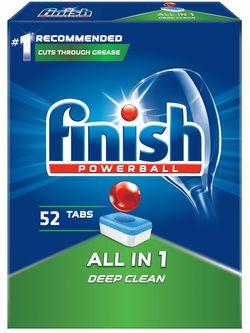 cumpără Detergent mașina de spălat vase Finish 6616 All in One 52 tab în Chișinău