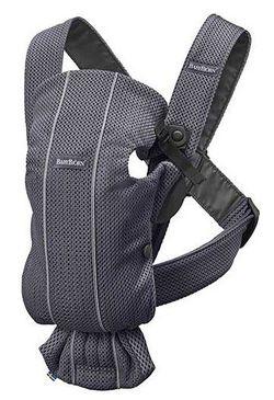 Анатомический рюкзак-кенгуру BabyBjorn Mini Anthracite 3D Mesh