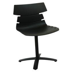 Пластиковый стул 490x450x830 мм, черный