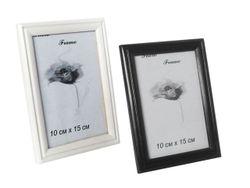 Rama foto din lemn 10X15cm, alba/neagra