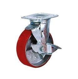 Колесо поворотное с тормозом из чугуна – Ø200,460кг