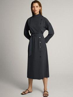 Платье Massimo Dutti Темно серый 6610/526/818
