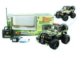 Masina R/C 1:16, Jeep cu lumina, 4 functii, incarcator