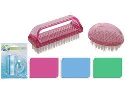 Perii pentru unghii Ultra Clean 2buc, din plastic
