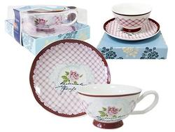 Cana pentru ceai 300ml cu farfurie Tognana Relax Tea
