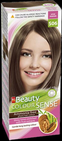 Vopsea p/u păr, SOLVEX MM Beauty Sense, 125 ml., S06 - Blond alună