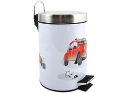 Ведро для мусора с педалью 3l Auto, нерж сталь
