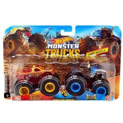 Mașină Monster Trucks 1:64 Demolition Doubles Hot Wheels, cod FYJ64