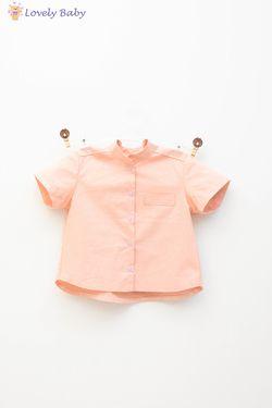Рубашка розовая пудравая