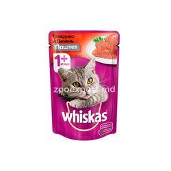 Whiskas паштет говядина и печень