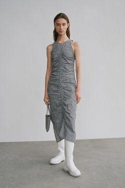 Платье ZARA Белый/черный 0794/103/064