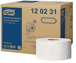 Hârtie Igienică Jumbo T2, 2str, 170m*9.7cm, 1214/12, Albă, Advanced
