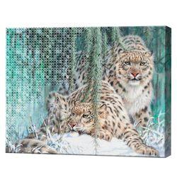Mozaic cu diamante+pictură pe numere 40x50 cm Leopardul zăpezilor YHDGJ75516