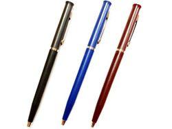 Ручка шариковая тонкая с круговым переключателем, синяя (ф)