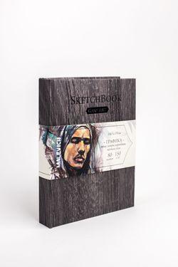 Скетчбук Малевичъ для графики GrafArt, Dark Wood, 150 гм, 14,5x19 см, 80л