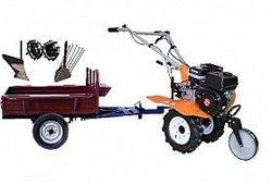 Set motocultivator TECHNOWORKER HB 700N + Remorca RK500 + plug simplu + plug cartofi + roti metalice 4*8